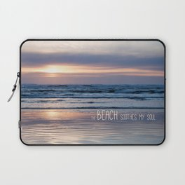 Beach Glow Soothes Soul Laptop Sleeve