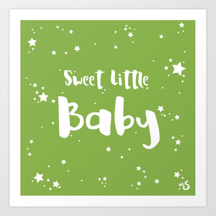 Sunday's Society6 | Sweet little baby greenery art print