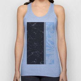 Light Blue Flower Meets Gray Black Marble #4 #decor #art #society6 Unisex Tank Top