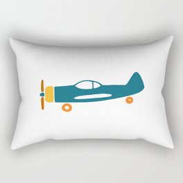 Retro plane illustration Rectangular Pillow