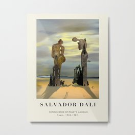 Poster-Salvador Dali-Reminiscence Millet's Angelus. Metal Print