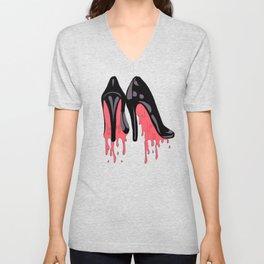 Bloody Shoes Unisex V-Neck