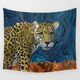 Leopard with the Sky in His Eyes Wall Tapestry