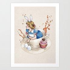 Tea Time in Wonderland Art Print