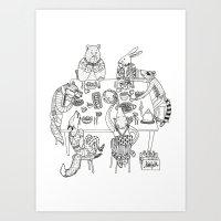 community Art Prints featuring Community  by Alexa Roberts