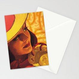 Vintage Fall Fashion Stationery Cards
