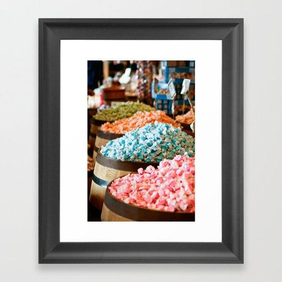 Salt Water Taffy Framed Art Print