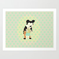 mickey Art Prints featuring mickey by Maria Alliaud