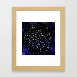 Celestial Map - Northern Hemisphere  Framed Art Print