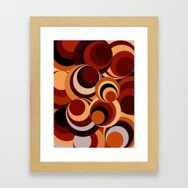 Spirals - New wave Blue Framed Art Print
