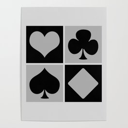Cards series - Black and grey Poster