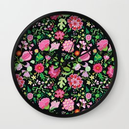 My Crazy Garden Flowers BedSpread Wall Clock