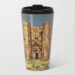 Apulia Castle del Monte vintage Italian travel ad Travel Mug