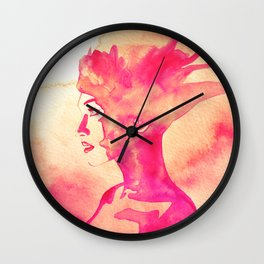 Firestorm Woman Wall Clock