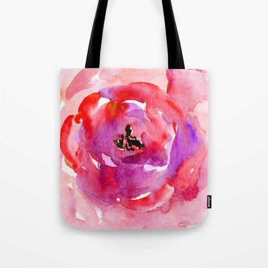 red pink flower Tote Bag