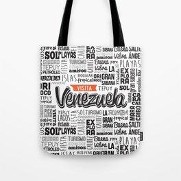 Venezuela Lettering Design - Black and white Tote Bag