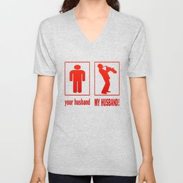 TRUMPET PLAYER - MY HUSBAND Unisex V-Neck