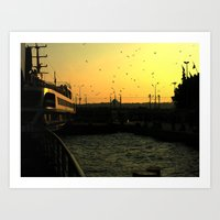 istanbul Art Prints featuring Istanbul by habish