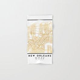 NEW ORLEANS LOUISIANA CITY STREET MAP ART Hand & Bath Towel