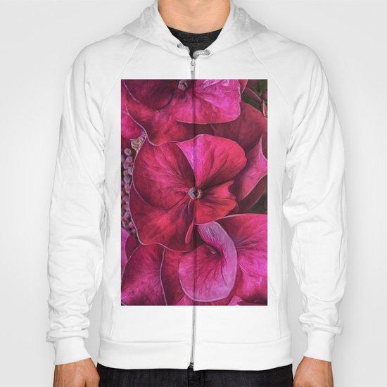 Hydrangea Red blooms Hoody