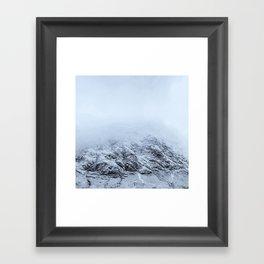 Letting go -  cold comfort in Glencoe Framed Art Print