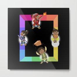 Chibi Rainbow Korra Metal Print