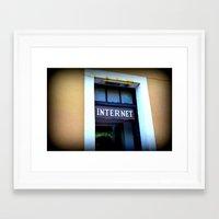 internet Framed Art Prints featuring Internet by MartaJ