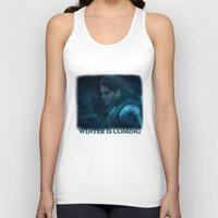 bucky barnes Tank Tops featuring The Winter Soldier (Bucky Barnes) by thecannibalfactory