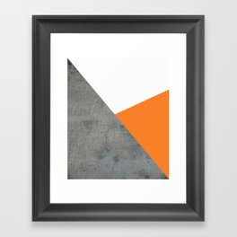 Concrete Tangerine White Framed Art Print