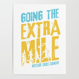 Awesome Cross Country Runners Running Extra Mile Poster
