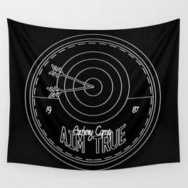 Aim True - Black & White Wall Tapestry