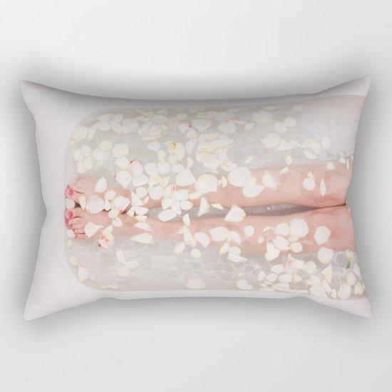 Floral bath Rectangular Pillow