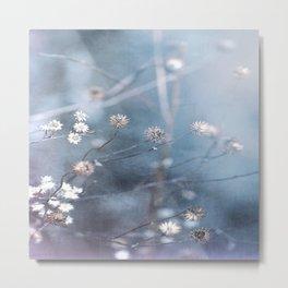 Dusty Fog Flowers Metal Print