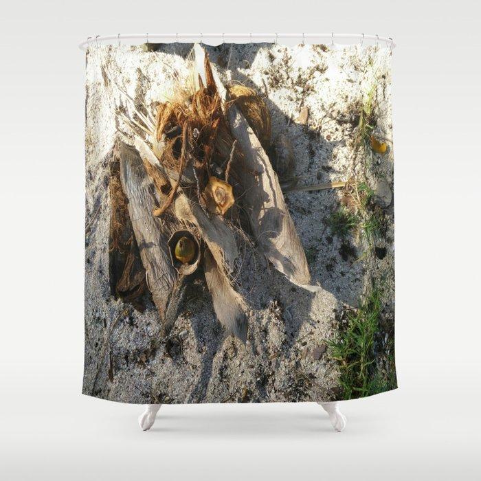 Ambiance Macré 2 . Le lion des sables se réveille doucement Shower Curtain