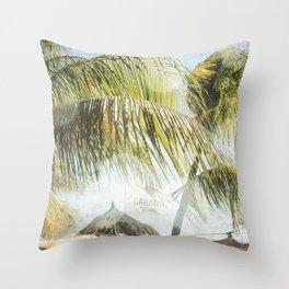 Cabana Beach Throw Pillow