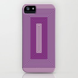 Rectangles shades of purple iPhone Case