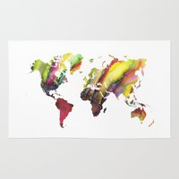 new order Area & Throw Rugs featuring World Map new order by jbjart