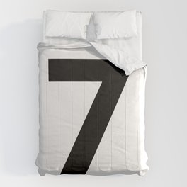 Number 7 (Black & White) Comforters