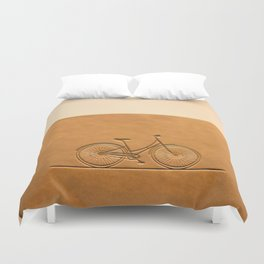 i like to ride my bicycle  Duvet Cover