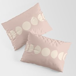 Minimal Moon Phases - Desert Rose Pillow Sham