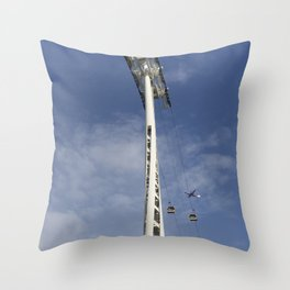 Emirates Cable Car And Flybe Aircraft Throw Pillow