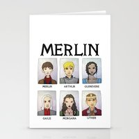 merlin Stationery Cards featuring MERLIN by Space Bat designs