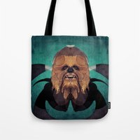 chewbacca Tote Bags featuring Chewbacca by lazylaves