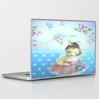 ballerina Laptop & iPad Skins featuring Ballerina by lil kitsch shop