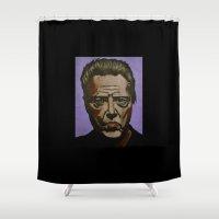 christopher walken Shower Curtains featuring Walken by Jonny Moochie