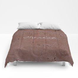 Merlot Wine Red Travertine - Rustic - Rustic Glam Comforters