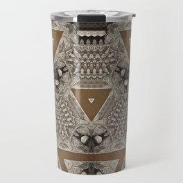 Elegant luxury calm abstract geometric retro vintage Travel Mug