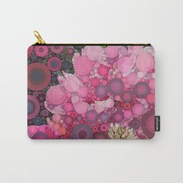 Pink Flowers at Twilight Abstract Carry-All Pouch