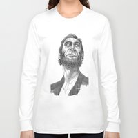 lincoln Long Sleeve T-shirts featuring Lincoln 49 by David Sparvero