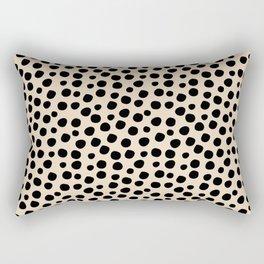 Irregular Small Polka Dots black Rectangular Pillow